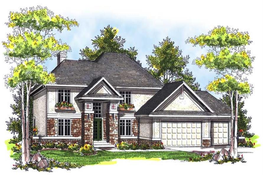 4-Bedroom, 2683 Sq Ft Mediterranean House Plan - 101-1440 - Front Exterior