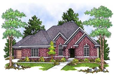 4-Bedroom, 3771 Sq Ft Ranch Home Plan - 101-1441 - Main Exterior