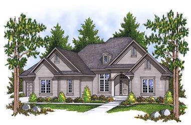 4-Bedroom, 3771 Sq Ft Ranch Home Plan - 101-1443 - Main Exterior
