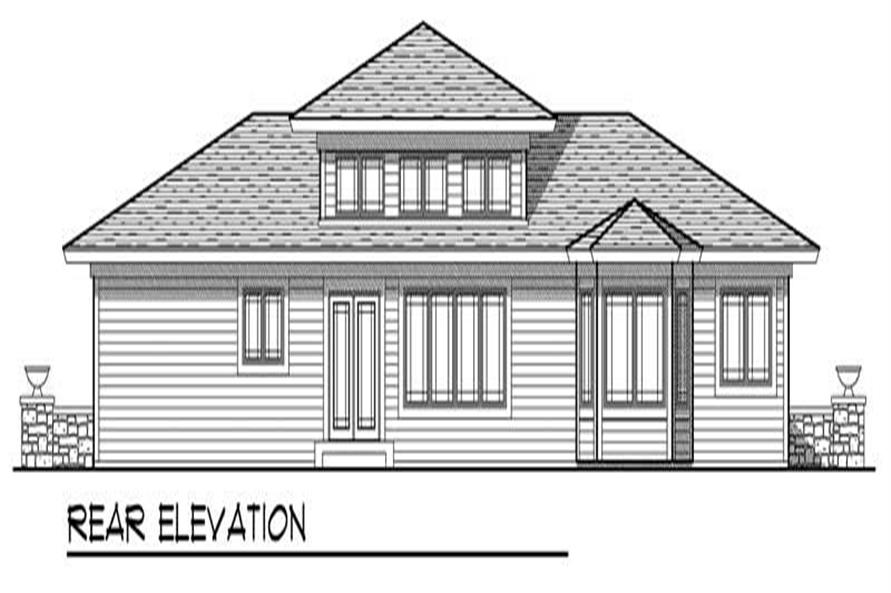 Home Plan Rear Elevation of this 3-Bedroom,1810 Sq Ft Plan -101-1452