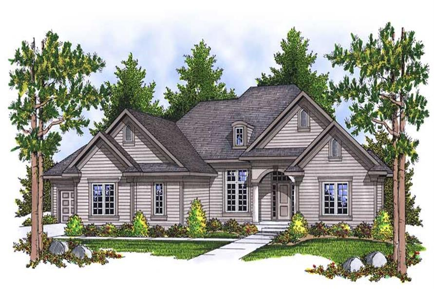 2-Bedroom, 2297 Sq Ft Ranch Home Plan - 101-1453 - Main Exterior