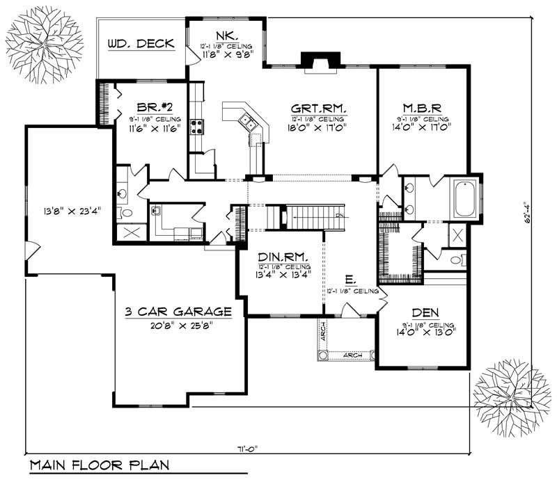 House Design 101: Ranch Home With 2 Bdrms, 2297 Sq Ft