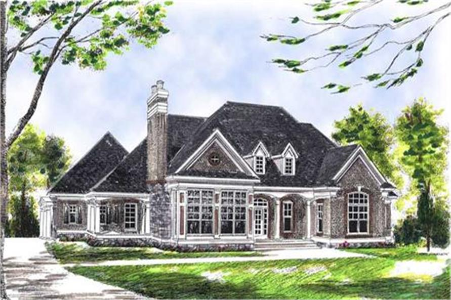 101-1454: Home Plan Rendering