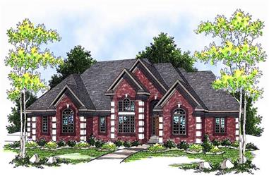 4-Bedroom, 4200 Sq Ft Ranch Home Plan - 101-1455 - Main Exterior