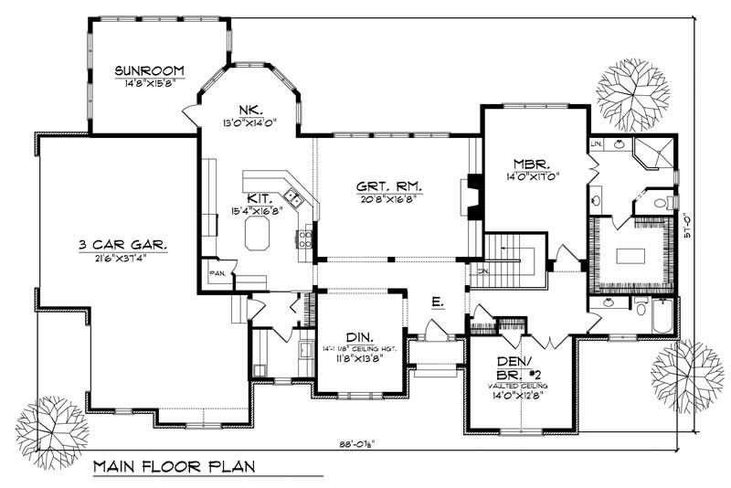 Ranch Home With 4 Bdrms 4200 Sq Ft House Plan 101 1455