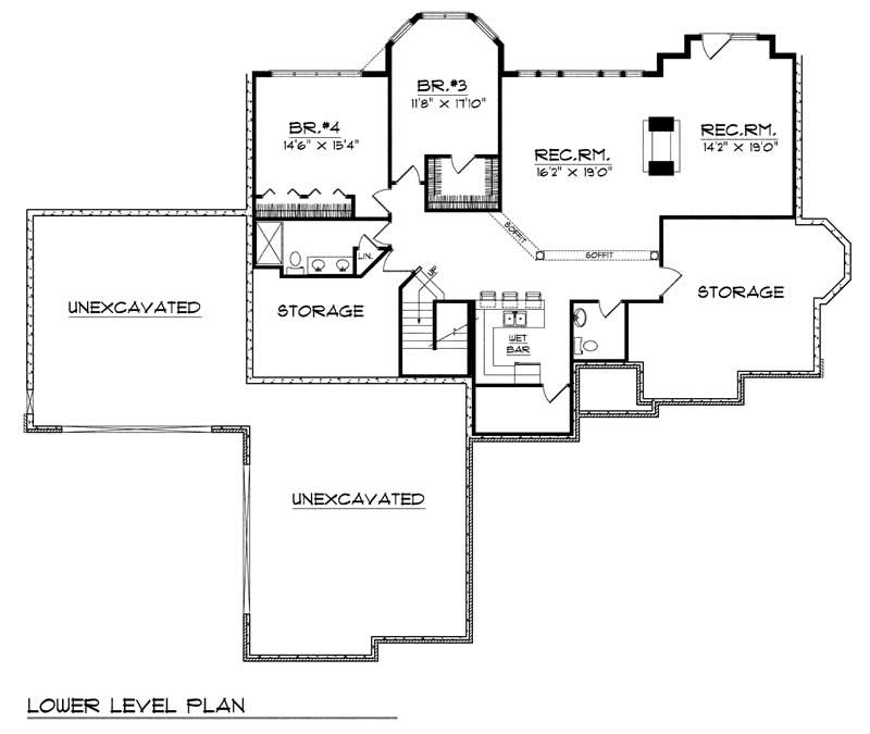 European home with 4 bdrms 3938 sq ft house plan 101 1456 Cost of building a basement per square foot