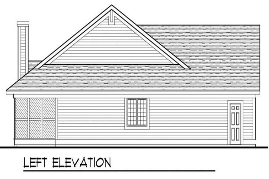 Home Plan Left Elevation of this 3-Bedroom,2196 Sq Ft Plan -101-1457