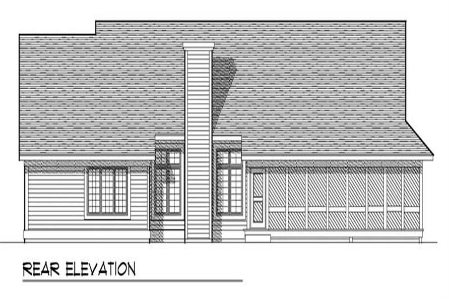 Home Plan Rear Elevation of this 3-Bedroom,2196 Sq Ft Plan -101-1457