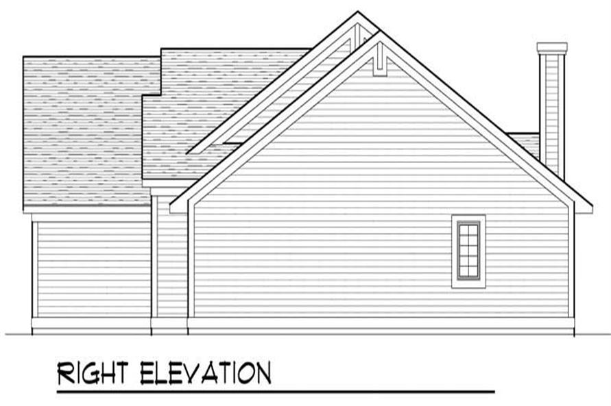 Home Plan Right Elevation of this 3-Bedroom,2196 Sq Ft Plan -101-1457