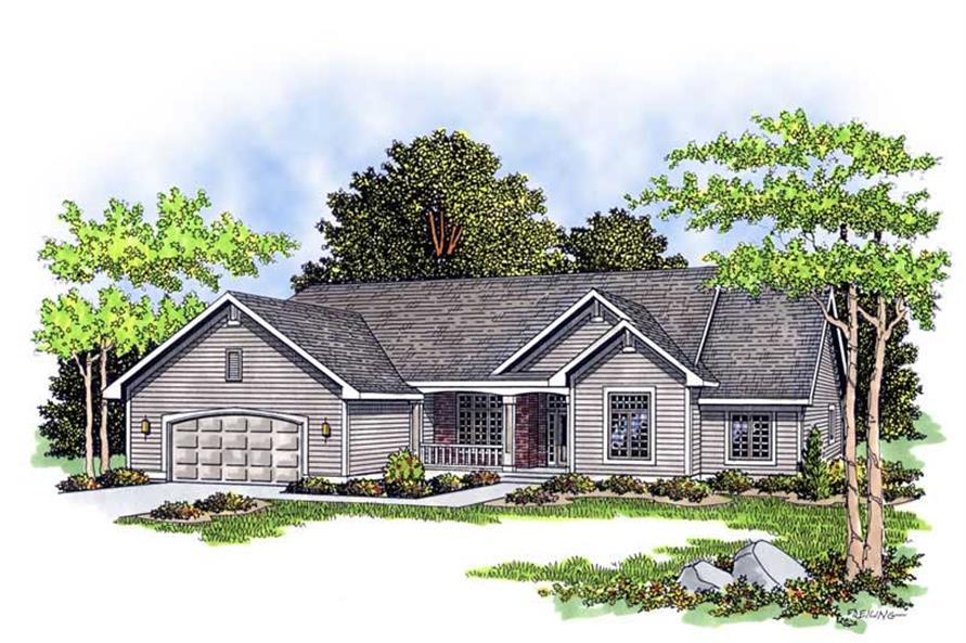 3-Bedroom, 2196 Sq Ft Country House Plan - 101-1457 - Front Exterior