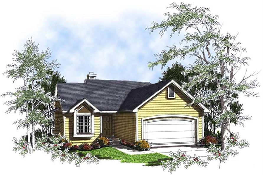 3-Bedroom, 1342 Sq Ft Bungalow House Plan - 101-1458 - Front Exterior