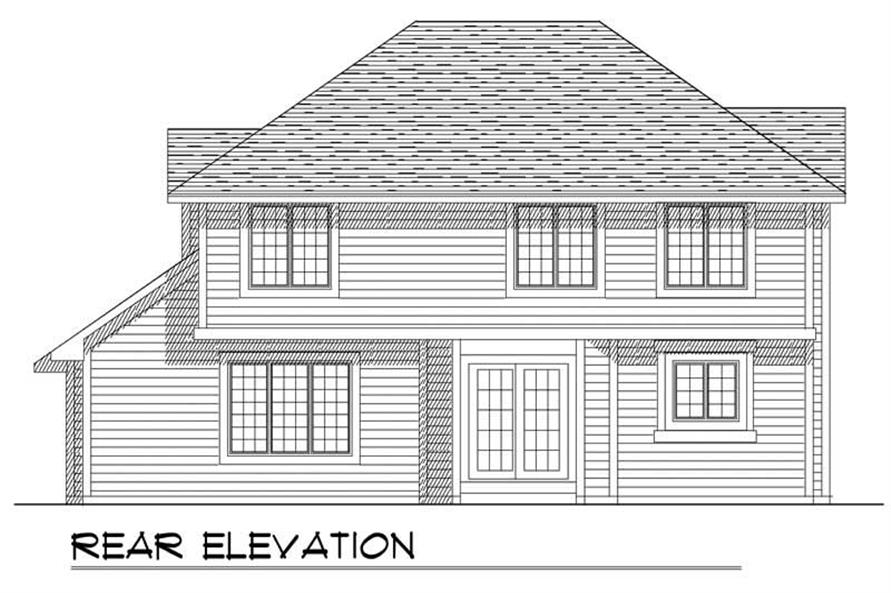 Home Plan Rear Elevation of this 4-Bedroom,2269 Sq Ft Plan -101-1459