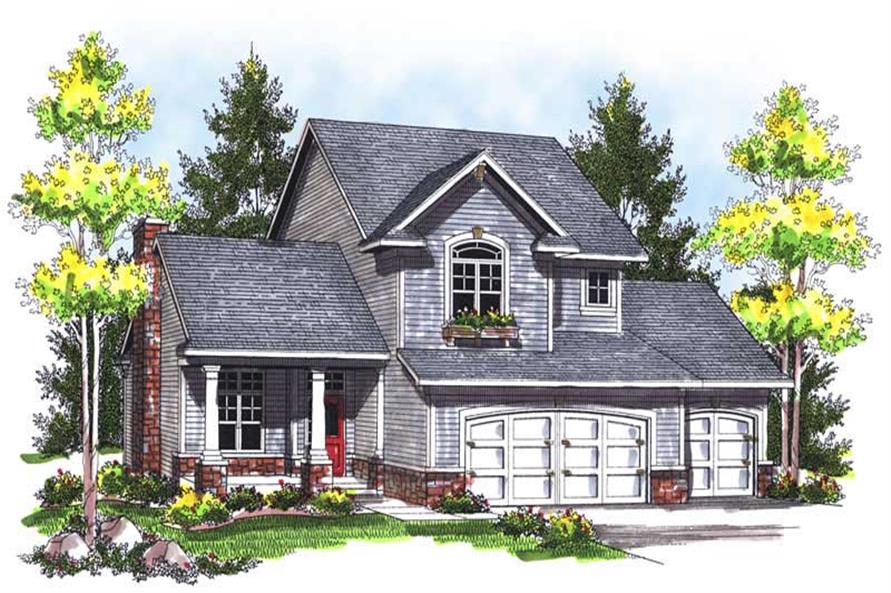 3-Bedroom, 1414 Sq Ft Ranch House Plan - 101-1462 - Front Exterior