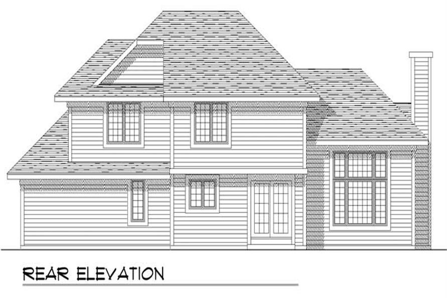 Home Plan Rear Elevation of this 3-Bedroom,1752 Sq Ft Plan -101-1469