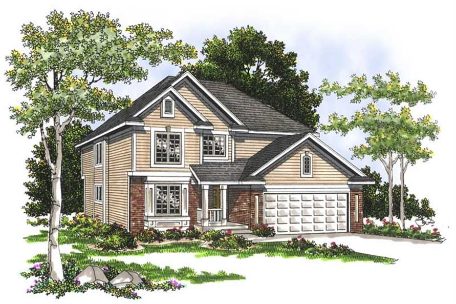 4-Bedroom, 2264 Sq Ft Craftsman House Plan - 101-1470 - Front Exterior
