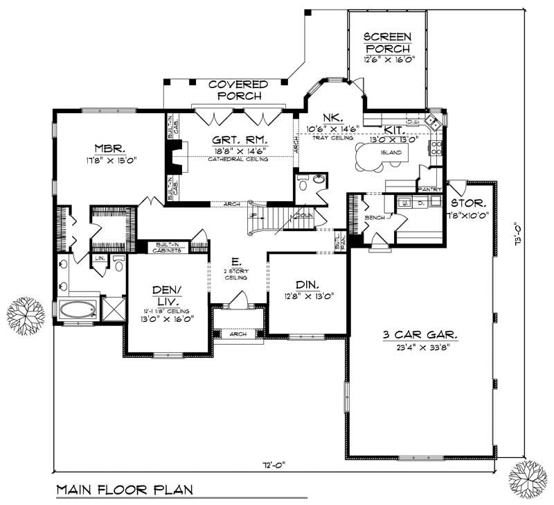 House Design 101: European Home With 3 Bdrms, 2833 Sq Ft