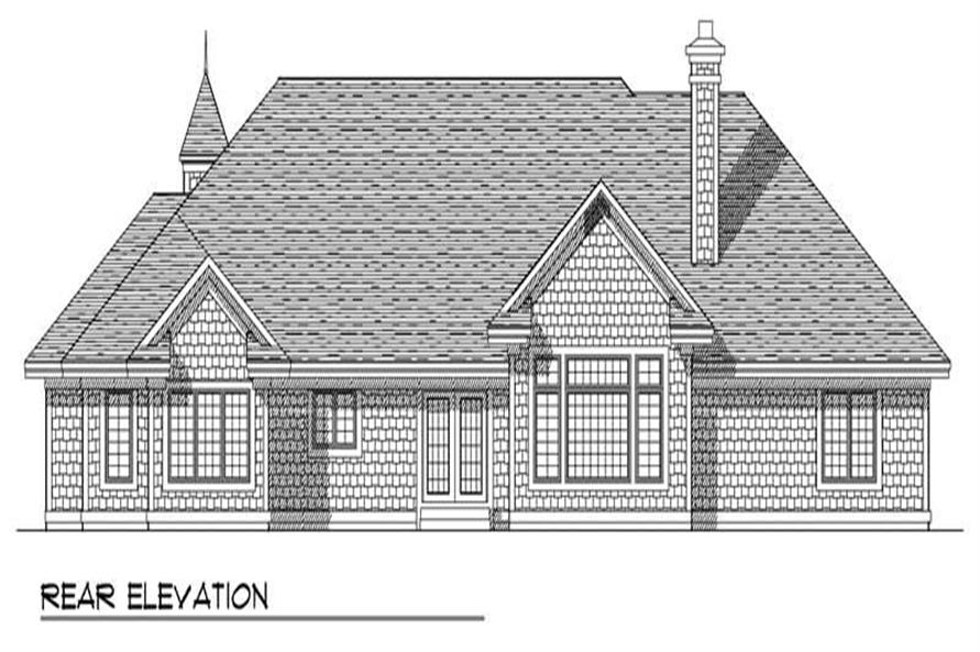 Home Plan Rear Elevation of this 3-Bedroom,2896 Sq Ft Plan -101-1475