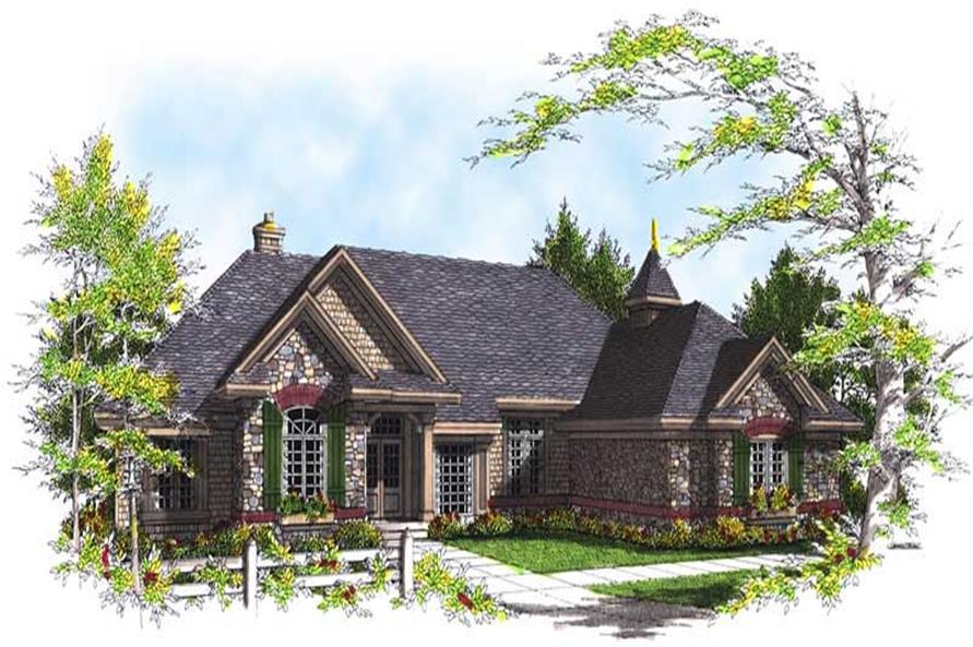 3-Bedroom, 2896 Sq Ft European House Plan - 101-1475 - Front Exterior