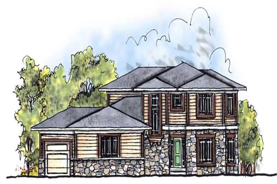 4-Bedroom, 2782 Sq Ft Prairie Home Plan - 101-1476 - Main Exterior