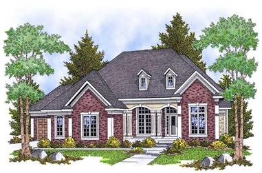 4-Bedroom, 3600 Sq Ft Country House Plan - 101-1480 - Front Exterior