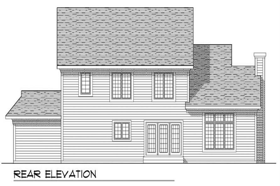 Home Plan Rear Elevation of this 3-Bedroom,2193 Sq Ft Plan -101-1483