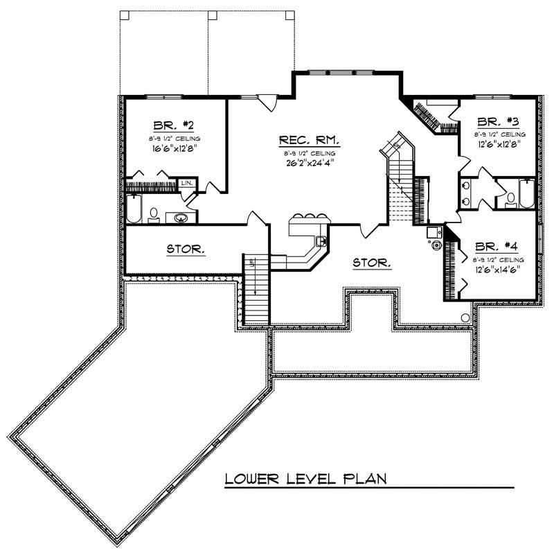 european home with 4 bdrms 4407 sq ft house plan 101 1484