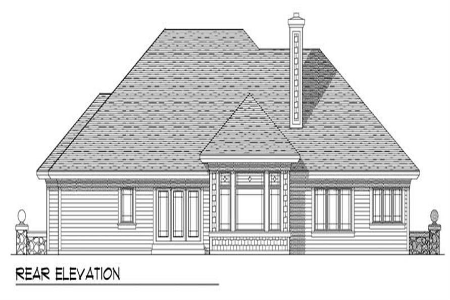 Home Plan Rear Elevation of this 3-Bedroom,2125 Sq Ft Plan -101-1485