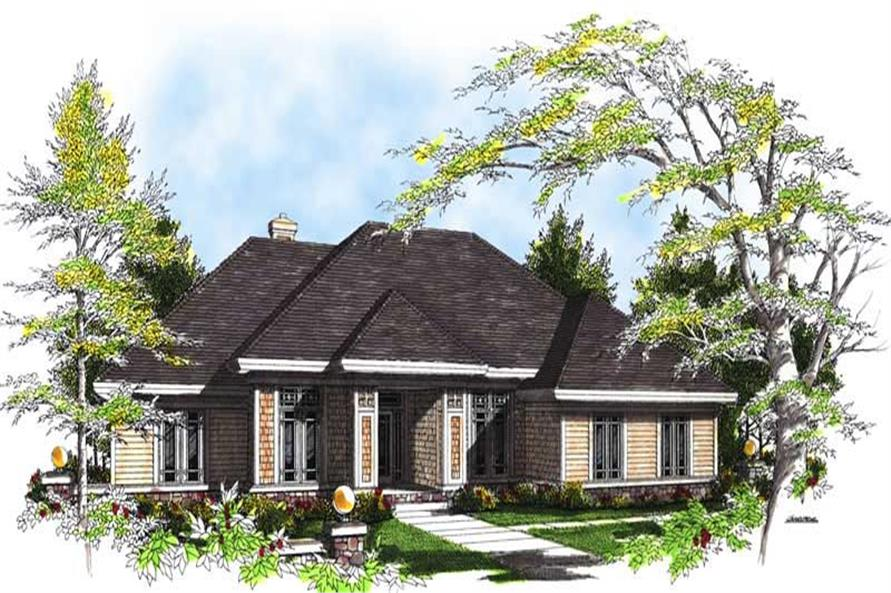3-Bedroom, 2125 Sq Ft Ranch Home Plan - 101-1485 - Main Exterior
