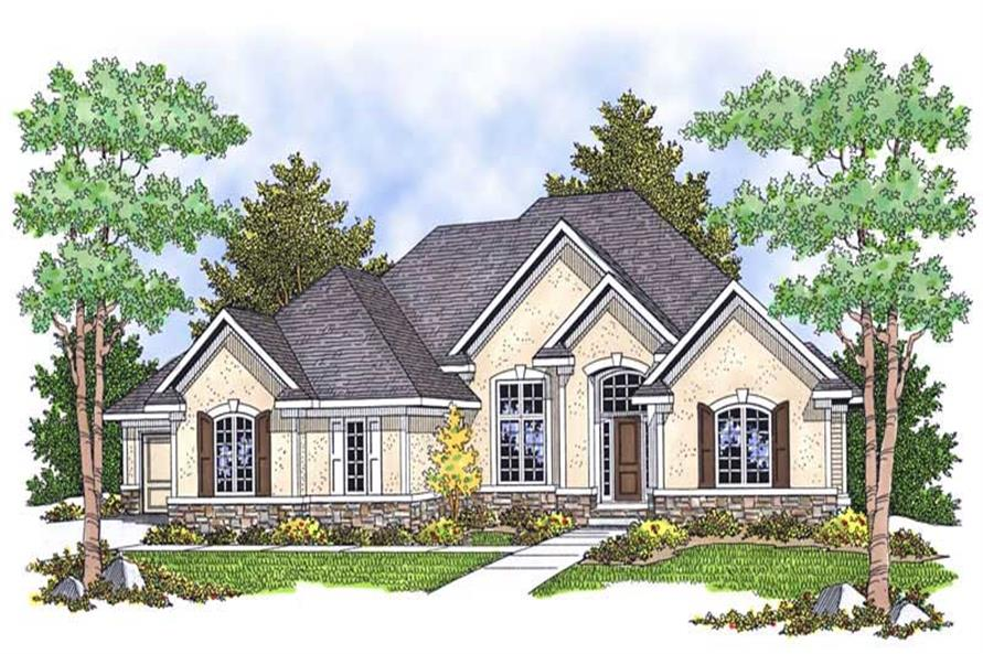 2-Bedroom, 2297 Sq Ft Ranch Home Plan - 101-1489 - Main Exterior