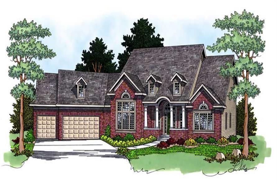 3-Bedroom, 3100 Sq Ft Cape Cod Home Plan - 101-1492 - Main Exterior