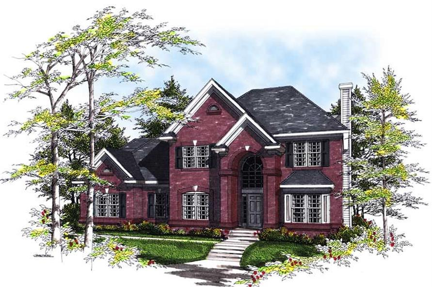 3-Bedroom, 2206 Sq Ft European House Plan - 101-1493 - Front Exterior
