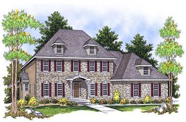 4-Bedroom, 3938 Sq Ft European Home Plan - 101-1494 - Main Exterior
