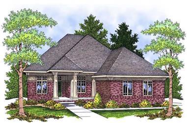 4-Bedroom, 3751 Sq Ft Ranch Home Plan - 101-1497 - Main Exterior