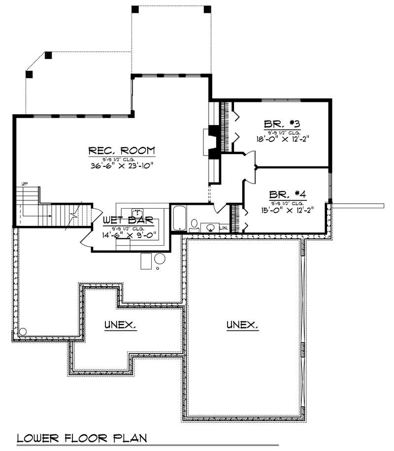 ranch home with 4 bdrms 3751 sq ft house plan 101 1497