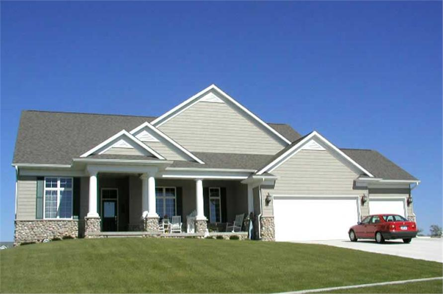 2-Bedroom, 2194 Sq Ft Ranch Home Plan - 101-1498 - Main Exterior