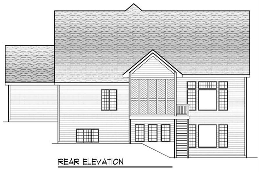 Home Plan Rear Elevation of this 2-Bedroom,2194 Sq Ft Plan -101-1498
