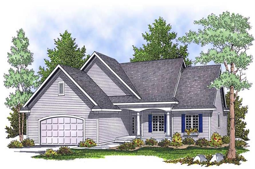 3-Bedroom, 1640 Sq Ft Ranch Home Plan - 101-1499 - Main Exterior