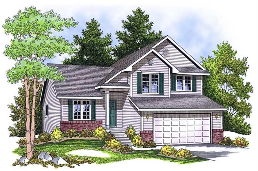 3-Bedroom, 1672 Sq Ft Country Home Plan - 101-1501 - Main Exterior