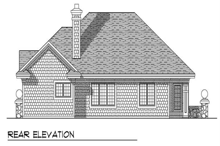 Home Plan Rear Elevation of this 3-Bedroom,1912 Sq Ft Plan -101-1504