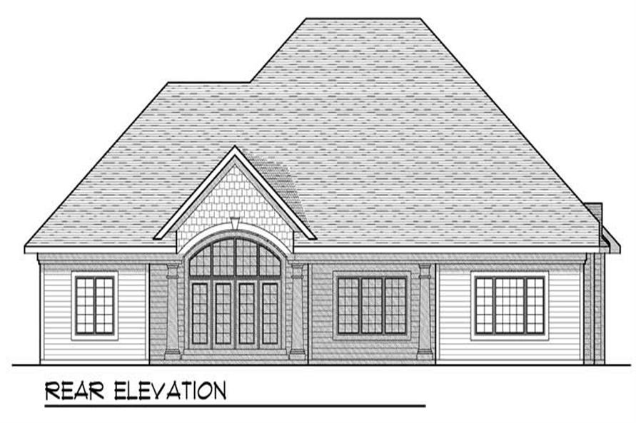 Home Plan Rear Elevation of this 3-Bedroom,2899 Sq Ft Plan -101-1508
