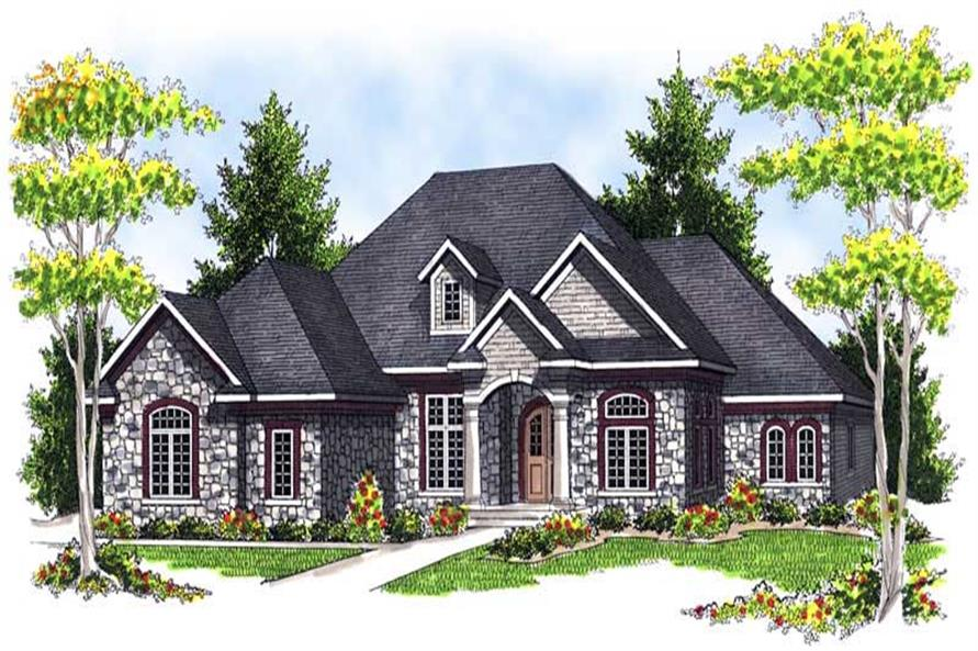 3-Bedroom, 2899 Sq Ft Country House Plan - 101-1508 - Front Exterior