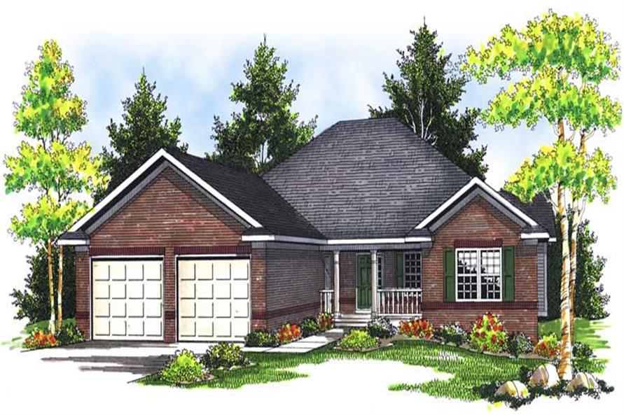 2-Bedroom, 1587 Sq Ft Bungalow House Plan - 101-1509 - Front Exterior