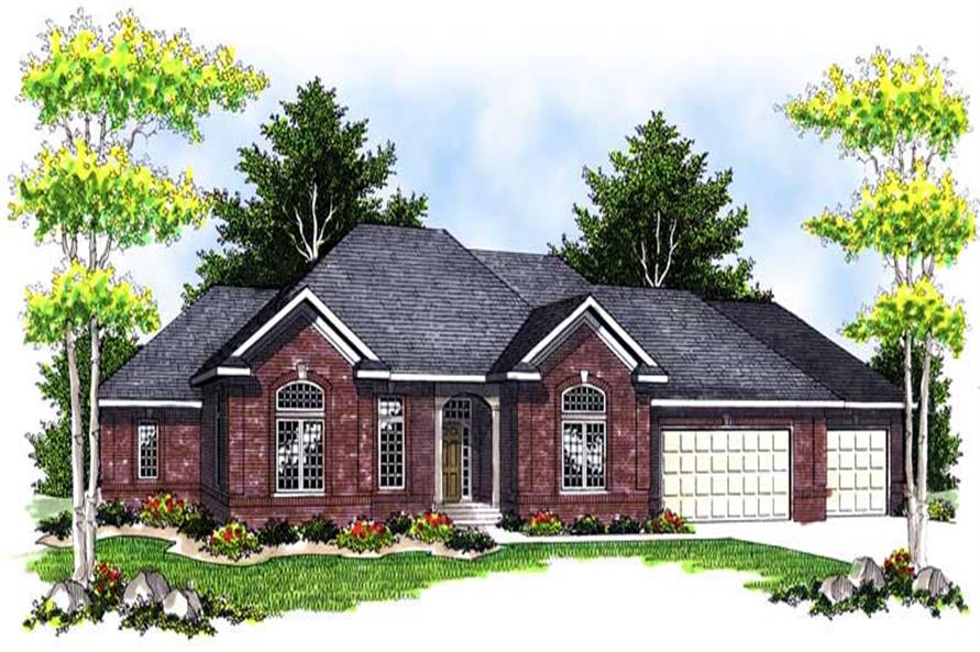 4-Bedroom, 3863 Sq Ft Ranch Home Plan - 101-1512 - Main Exterior