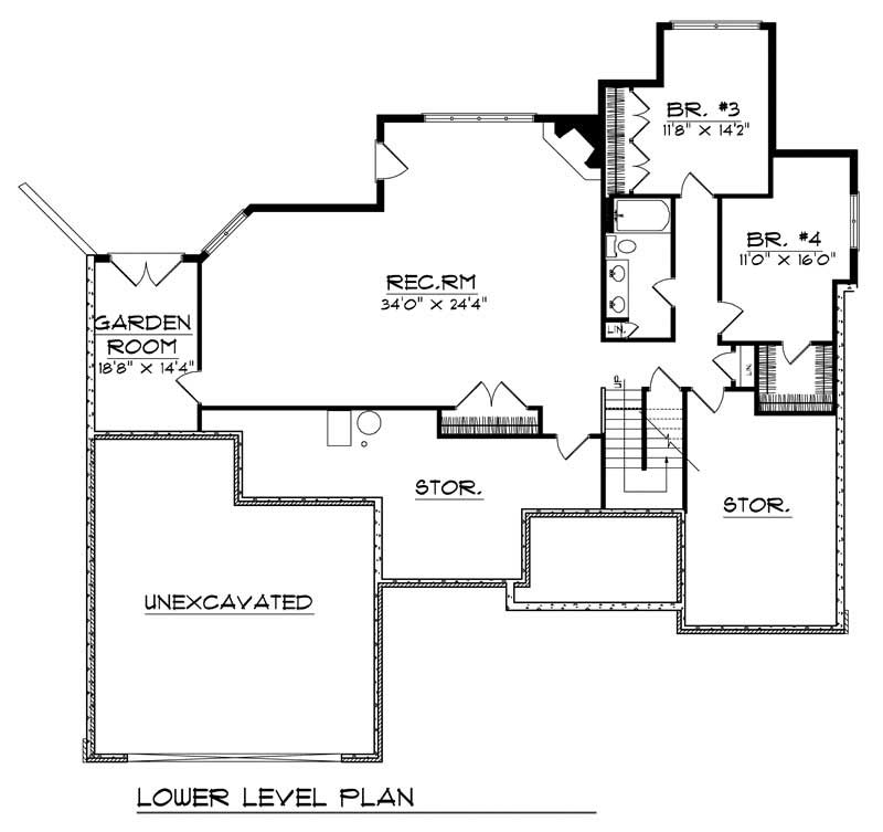 ranch home with 4 bdrms 3572 sq ft house plan 101 1514