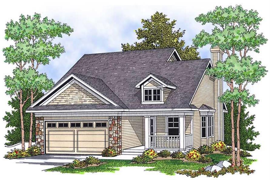 2-Bedroom, 1346 Sq Ft Bungalow Home Plan - 101-1521 - Main Exterior