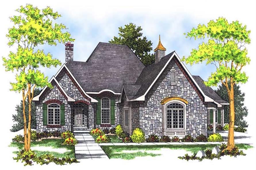 4-Bedroom, 3798 Sq Ft European Home Plan - 101-1522 - Main Exterior