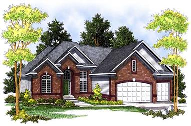 4-Bedroom, 4122 Sq Ft Ranch Home Plan - 101-1523 - Main Exterior