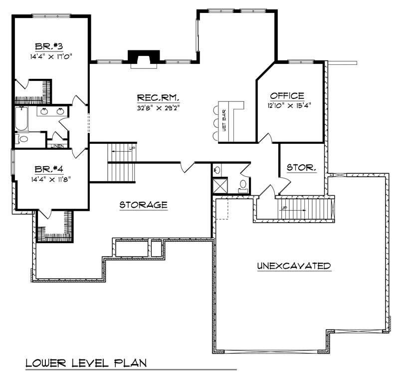 ranch home with 4 bdrms 4122 sq ft house plan 101 1523
