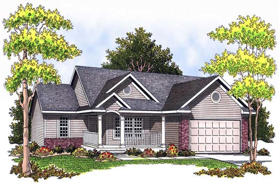 3-Bedroom, 1274 Sq Ft Ranch Home Plan - 101-1528 - Main Exterior