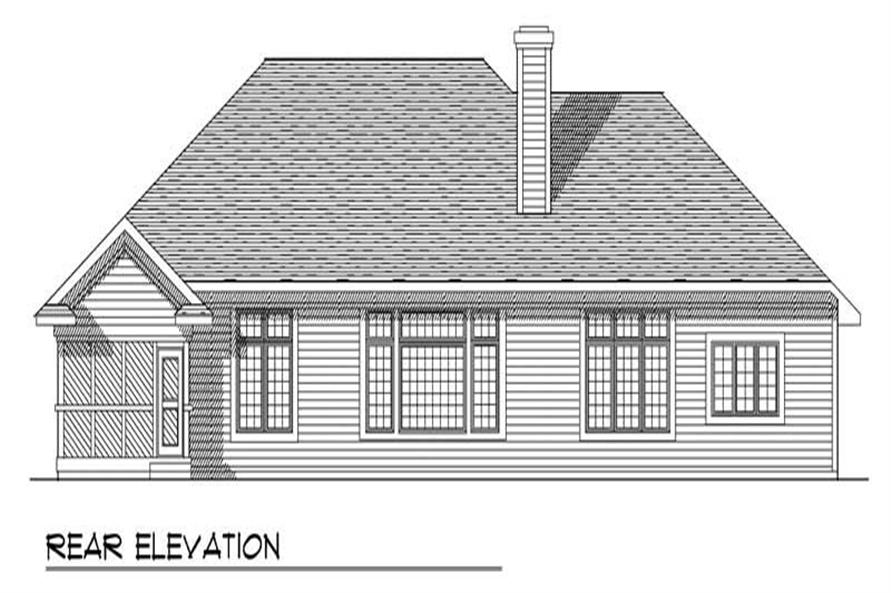 Home Plan Rear Elevation of this 3-Bedroom,2452 Sq Ft Plan -101-1536